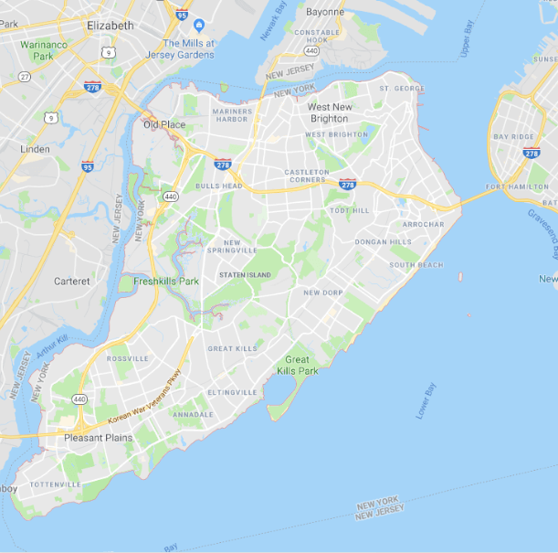Staten Island Map New York