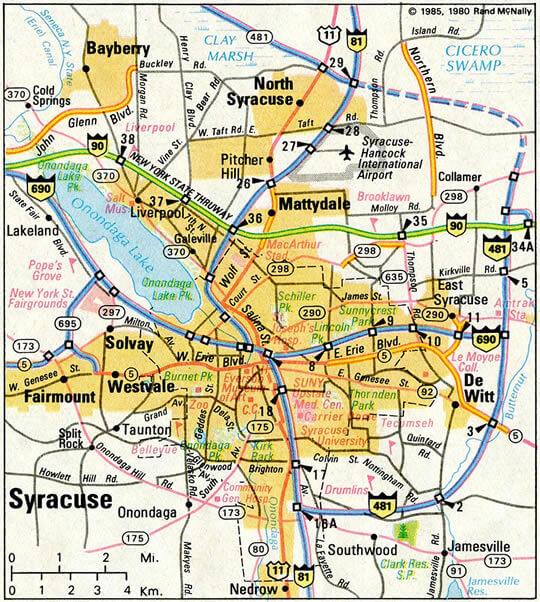 Syracuse Map New York