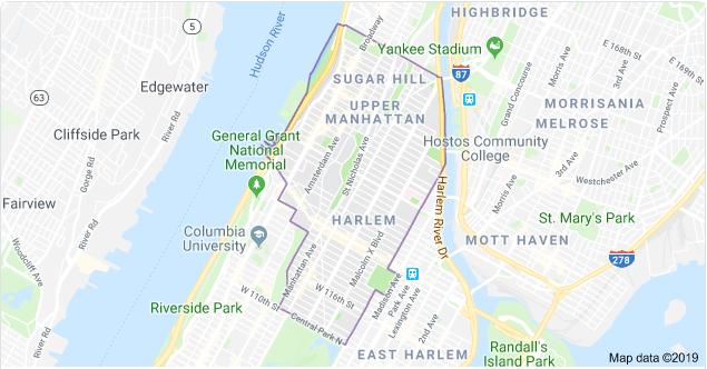 Harlem Map NYC