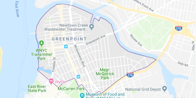 Greenpoint Map New York